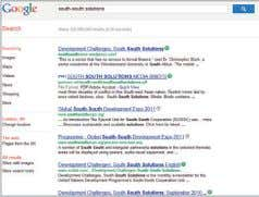 Challenges March 2011 Issue Search Terms + Memes 2,442 1,179 South-South solutions + innovators Memes: