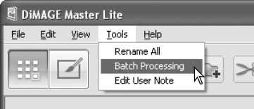 to begin processing. The select-folder dialog box opens. Master Notes When resizing images in a batch,