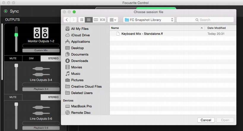 Snapshot , which opens a standard File Open box; navigate to the where you saved the