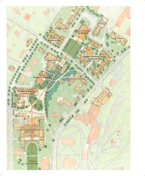 The master plan for this seven-acre site at Dartmouth College reconfigures the area directly north