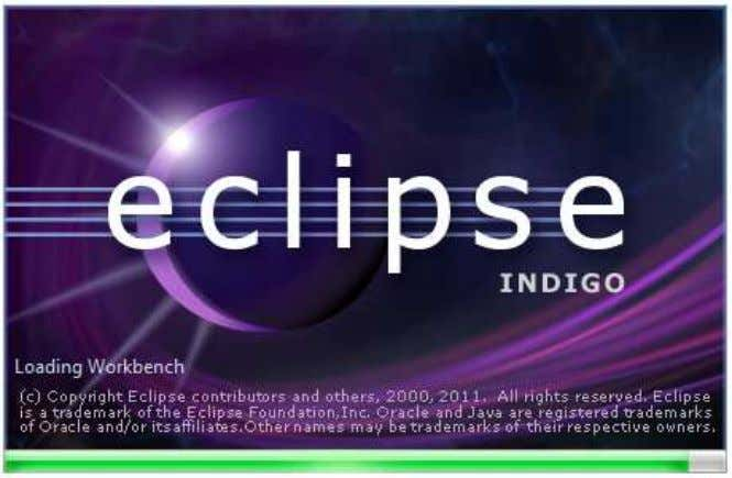 sub-directory of the install. Double click the eclipse.exe. Selecting a workspace When the Workbench is launched,
