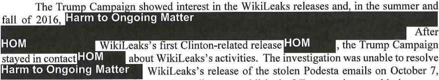 presidential election and undermine the Clinton Campaign. , the Trump Campaign about WikiLeaks 's activities. The