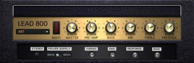 Amplifiers Lead 800 2.12 Lead 800 The Lead 800 About This smooth, intense lead sound cuts
