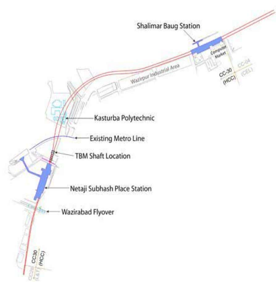 13 SHALIMAR BAGH METRO STATION: The Shalimar Bagh Metro Station is situated on the outer Ring