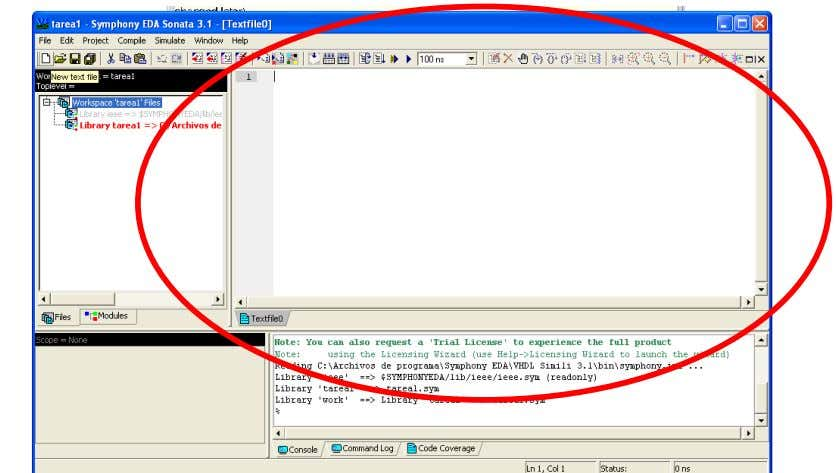 y a Distancia UNAD CLIC en new text file: o en FILE → NEW En este