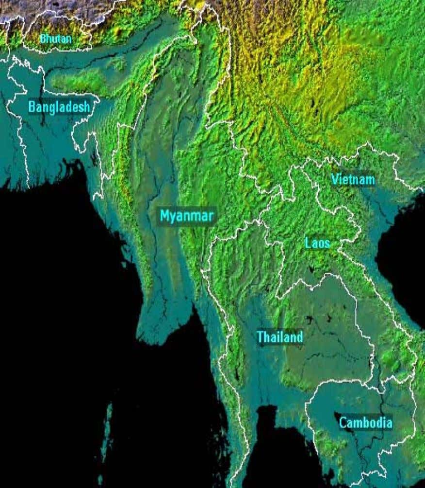 Figure 2.1 Union of Myanmar 2.3 Climate Myanmar has two distinct dry and wet seasons. The