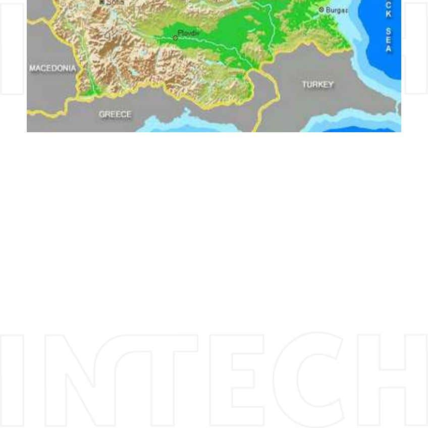 98 Agricultural Science Picture 1. Position of Dobrudzha Agriculture Institute on Bulgaria map (43 そ 40'