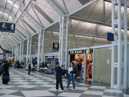 United Airlines Terminal at O'Hare Airport, Chicago, 1987, H. Jahn Arch, Lev Zetlin Struct Eng