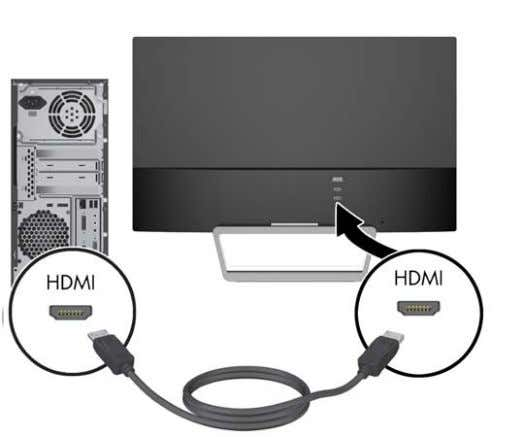 end to the HDMI port on the source device. The HDMI cable is included for select