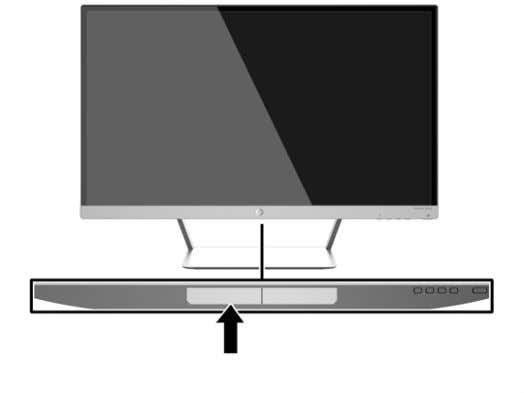 The rating label is located on the bottom of the monitor. Installing a Cable Lock You