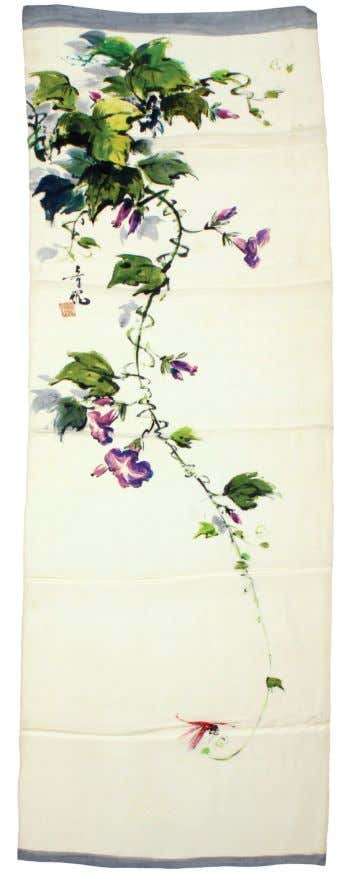 Painted Silk Scarves Tyrus created a portfolio of hand-painted silk scarves with the intent of