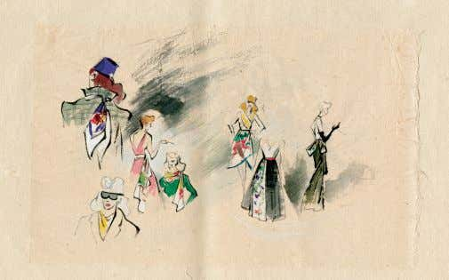 c. 1940 watercolor and ink on paper | 13 x 39 inches TOP Sword Dance c.