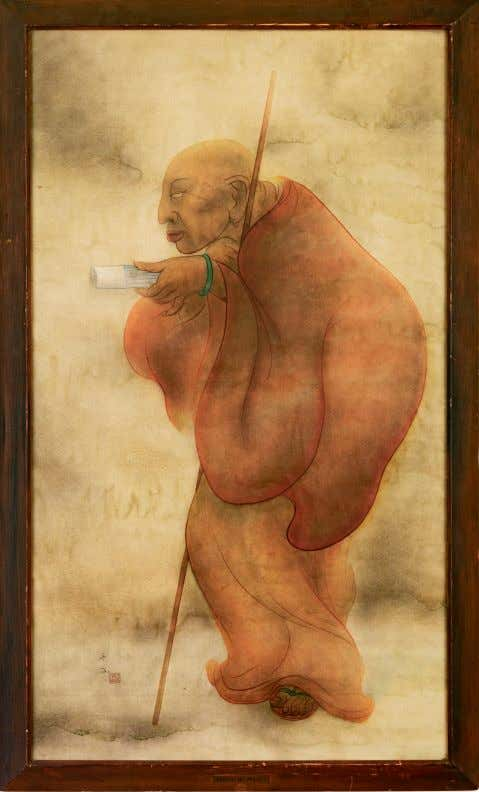 30 WATER TO PAPER, PAINT TO SKY Tssang (The Monk) c. 1936 watercolor on paper