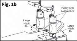 Fig. 1b Pulley Arm Assemblies Large Hitch Large Pin Hitch Pin