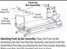 Push Up Bar Assembly Small Hitch Pin Small Hitch Pin Foot Rest Bar Assembly