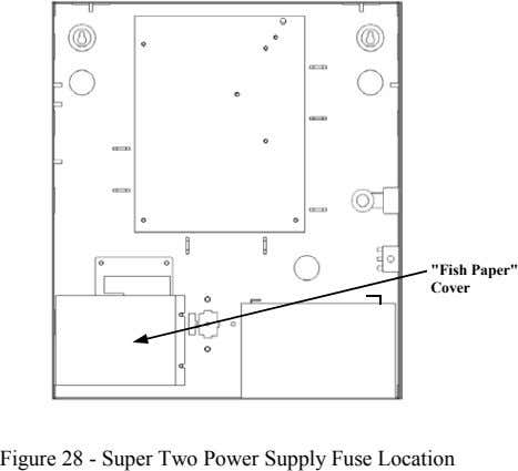 """Fish Paper"" Cover Figure 28 - Super Two Power Supply Fuse Location"