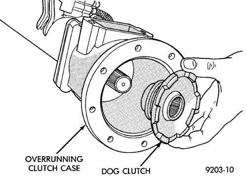 AND DRIVELINE 3 - 45 REMOVAL AND INSTALLATION (Continued) Fig. 76 Dog Clutch Removal turned counterclockwise