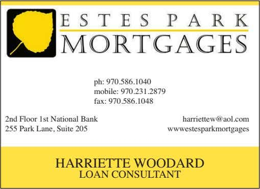 ph: 970.586.1040 mobile: 970.231.2879 fax: 970.586.1048 2nd Floor 1st National Bank 255 Park Lane, Suite