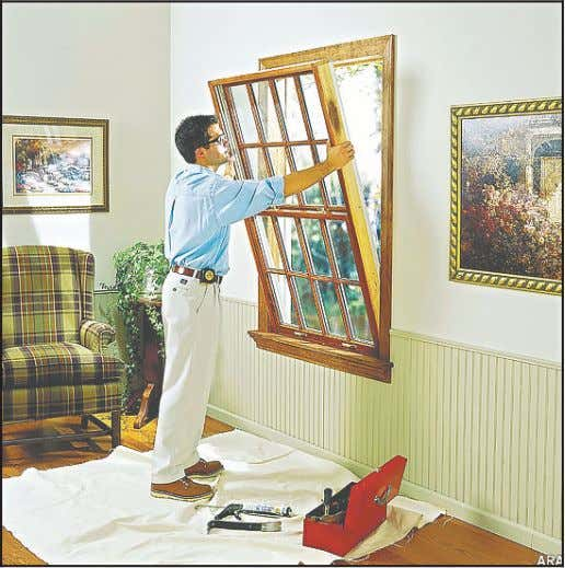 "window or door replacement, now's the time to do it."" Courtesy Photo Some basic upgrades can"