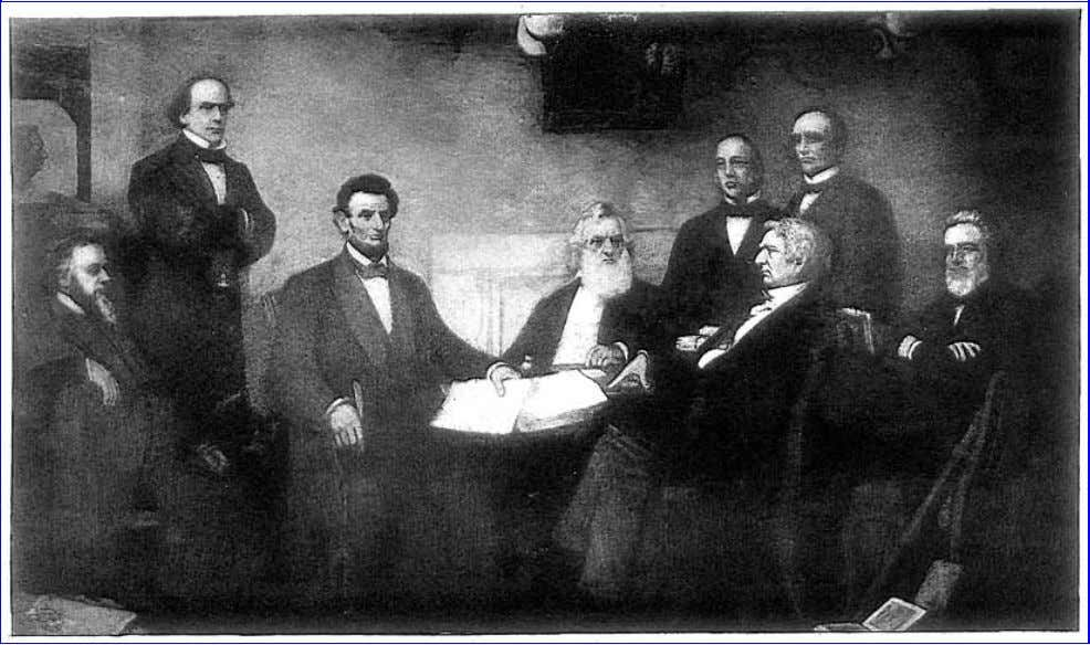allowed gradually to sink away into neglect. [42] Lincoln Submitting the Emancipation Proclamation to His