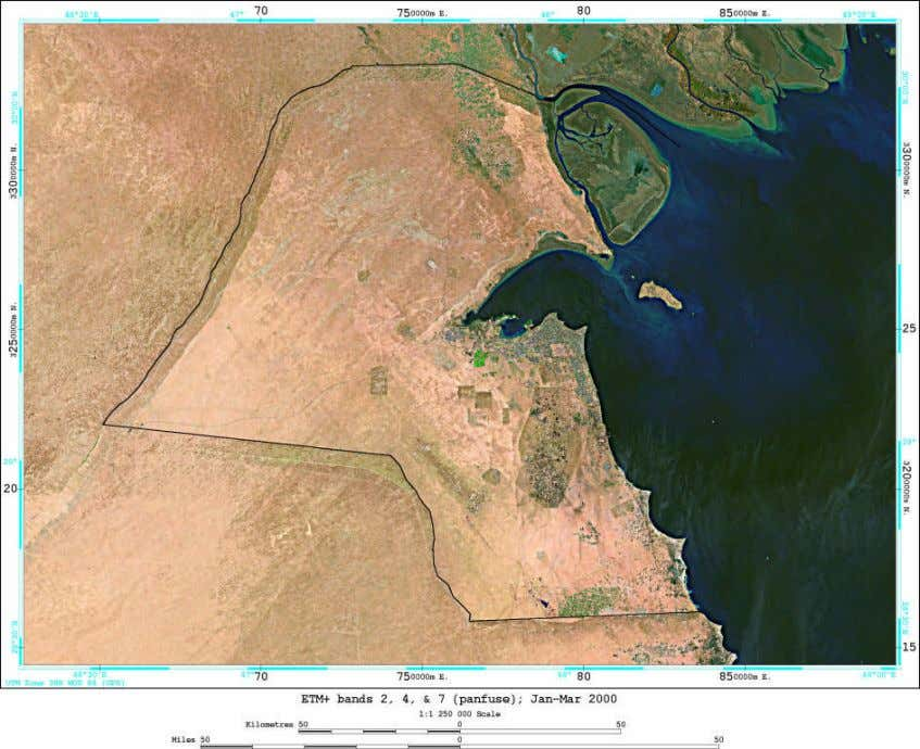 A Satellite Image of the State of Kuwait.