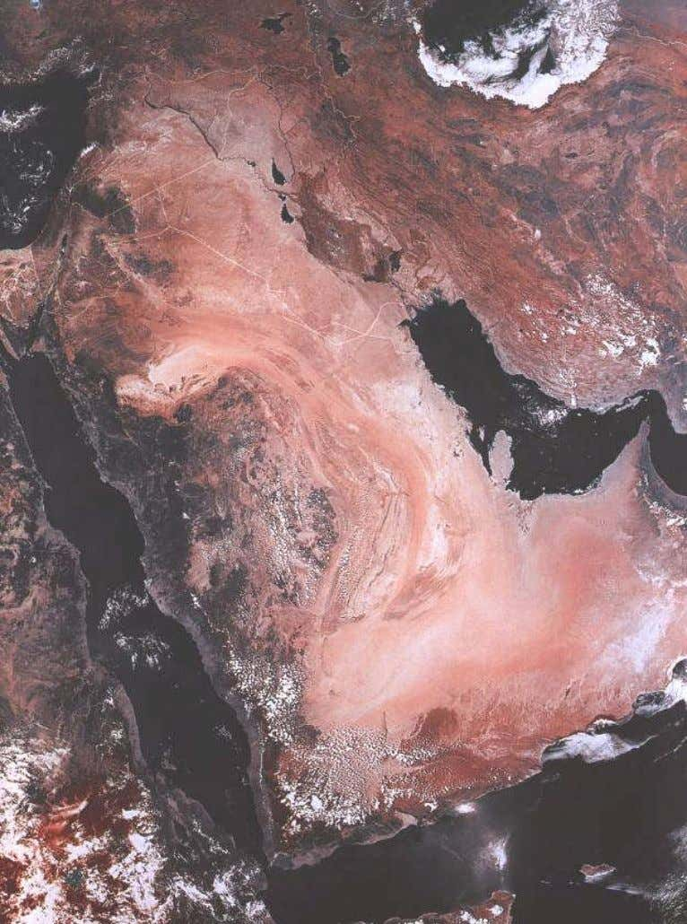 The Environmental Strategy of the State of Kuwait, 2002 Plate 1-2 A satellite image that shows
