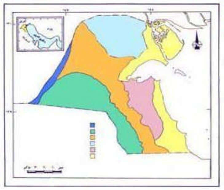 The Environmental Strategy of the State of Kuwait, 2002 Fig. 1-5 Distribution of geomorphologic units in