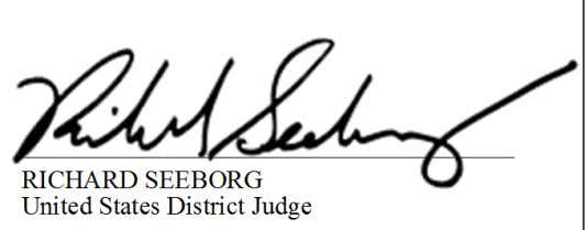 RICHARD SEEBORG United States District Judge