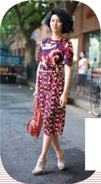 MIAOW MIAOW FASHION EDITOR PRESENTER MTV CHINA FASHION EDITOR Marni dress and shoes SIMON TANG FOOD