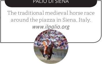 The traditional medieval horse race around the piazza in Siena, Italy. www.ilpalio.org