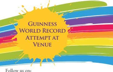Guinness World Record Attempt at Venue Follow us on: