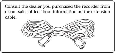 Consult the dealer you purchased the recorder from or out sales office about information on