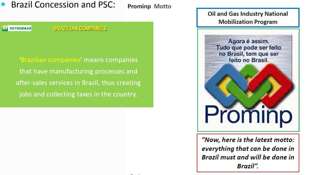  Brazil Concession and PSC: