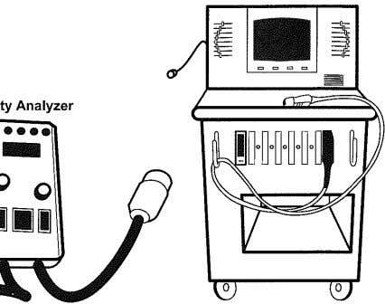wall outlet and the device to be tested. Ultrasound GFCI Plug Safety Analyzer li- ••••• 0