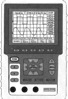 and AC voltage. Figure 3.10 Hand-held oscilloscope Glossary of Important Terms AC (alternating current) and
