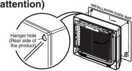 INSTALLATION GUIDE MAP attention) Hanger hole (Rear side of the product)