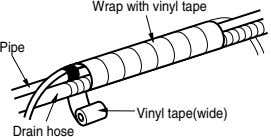 Wrap with vinyl tape Pipe Vinyl tape(wide) Drain hose