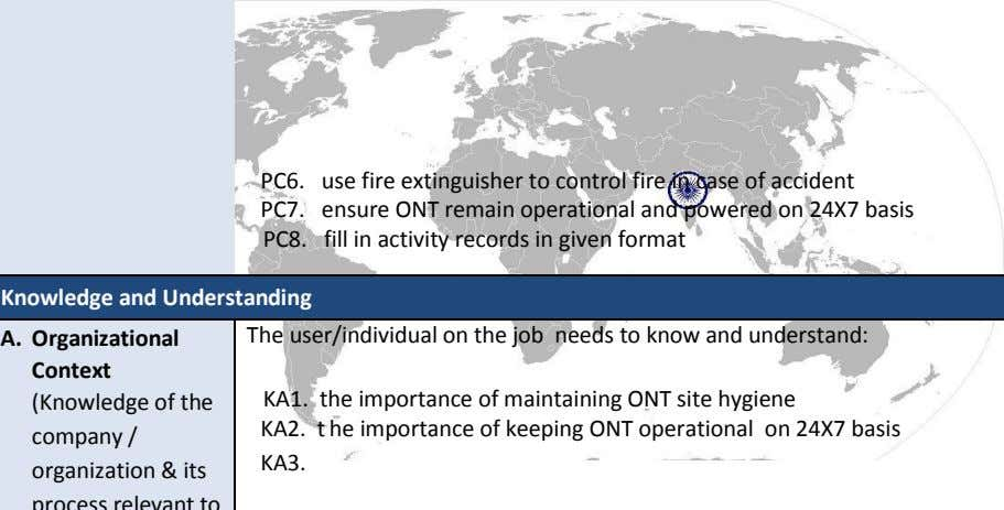 PC6. PC7. PC8. use fire extinguisher to control fire in case of accident ensure ONT