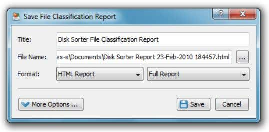 the 'Report' button located on the main toolbar. On the 'Report' dialog enter the report title,