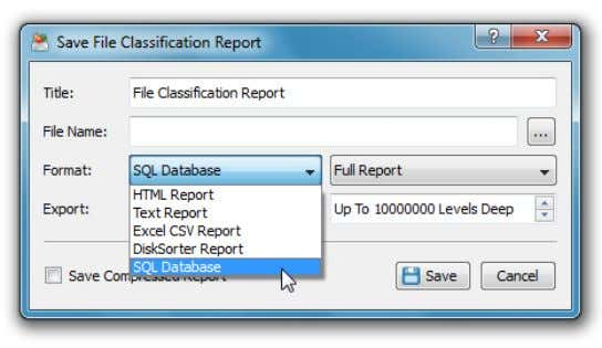 while submitting all reports to a centralized SQL database. The report database dialog displays reports that