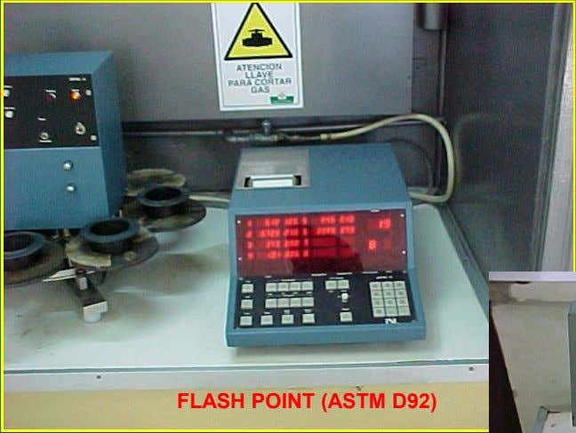 FLASH POINT (ASTM D92)
