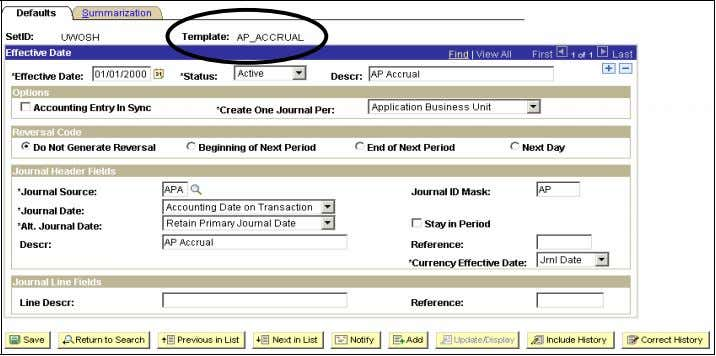 System - General Ledger Manual - Peoplesoft Version 8.9 • Review the various options on the