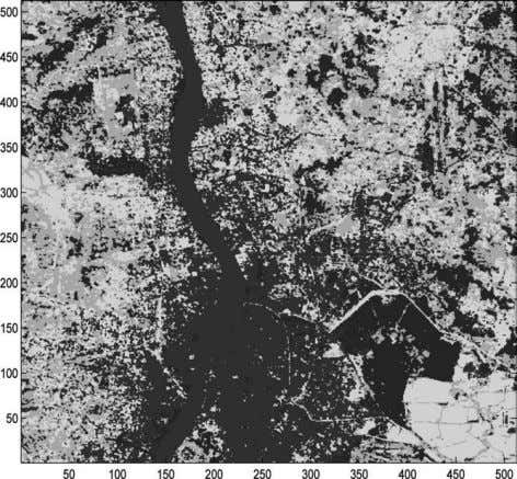 across the middle of the image, several fisheries observed Figure 5. Clustered IRS image of Kolkata