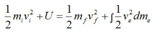 for T 1 and T 2 into the above equation we get Where: U is the