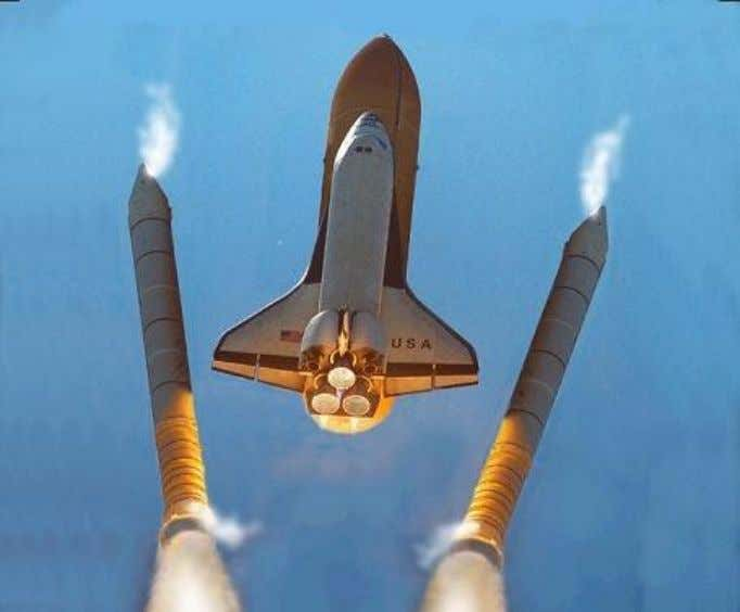 separation stage of the twin rocket boosters of the Space Shuttle. www.real-world-physics-problems.com/rocket-physics.html
