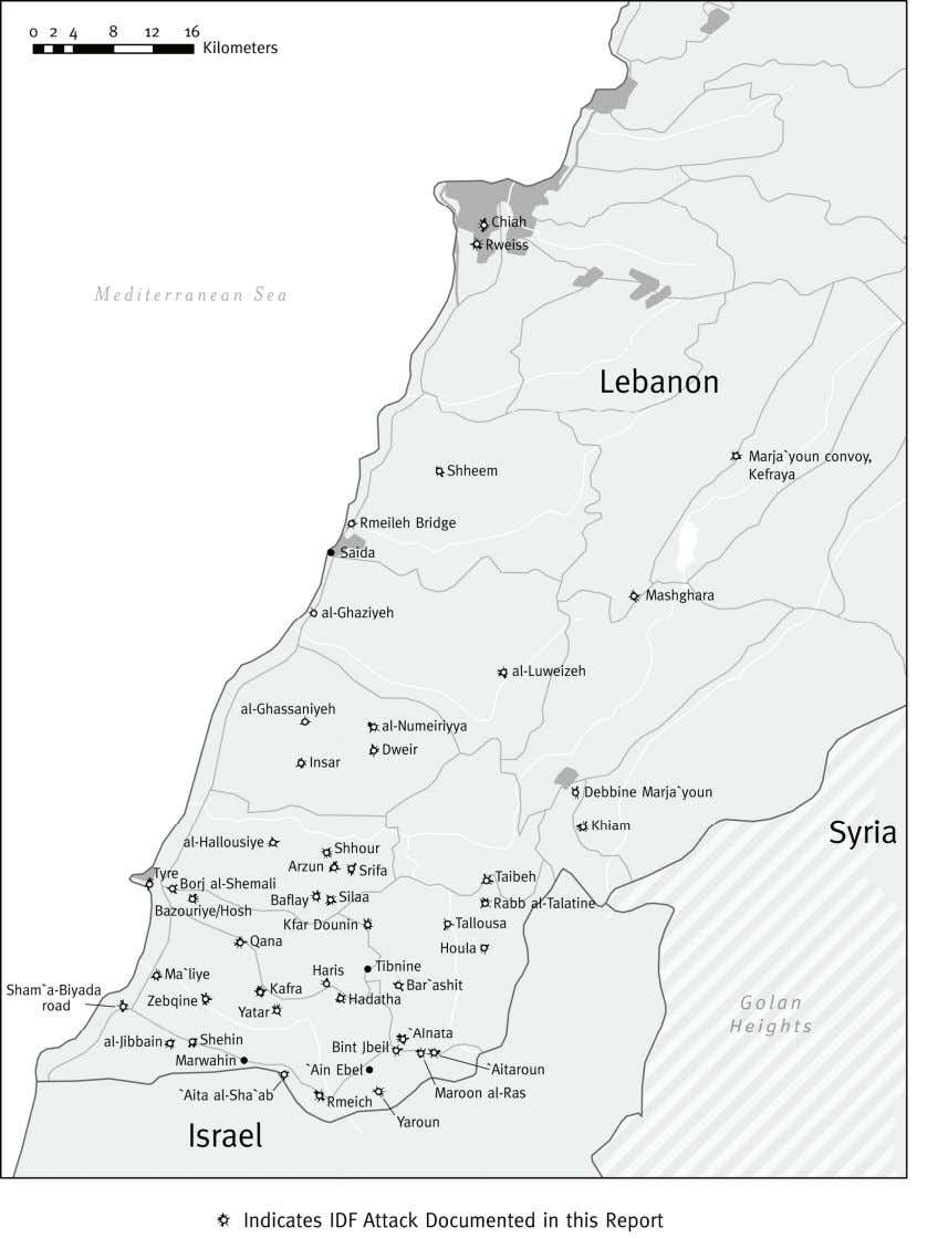 Map: Southern Lebanon © 2007 John Emerson Why They Died 2