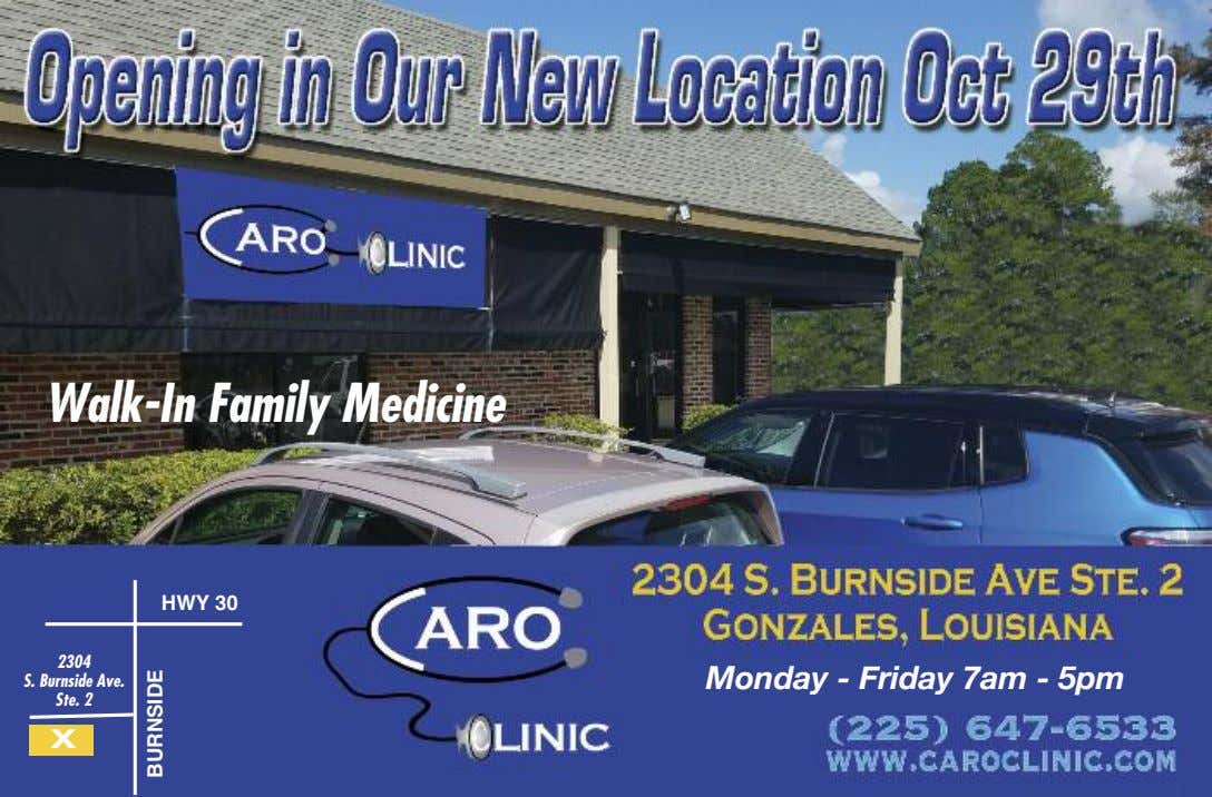 Walk-In Family Medicine HWY 30 2304 Monday - Friday 7am - 5pm S. Burnside Ave.
