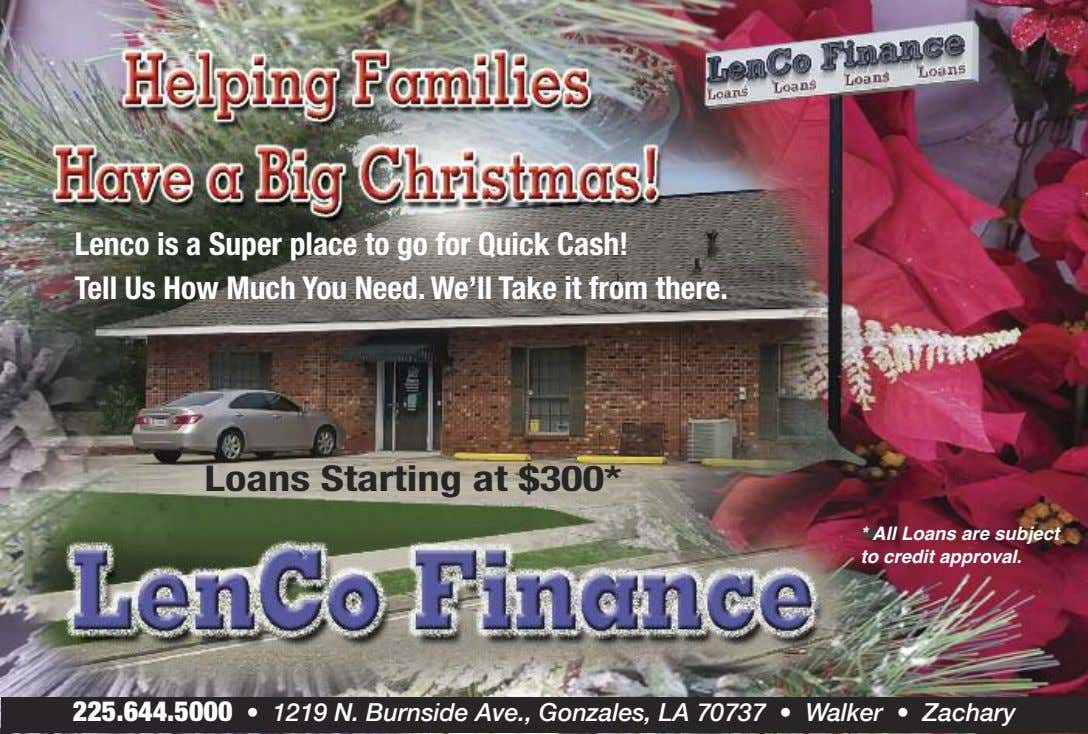 Lenco is a Super place to go for Quick Cash! Tell Us How Much You
