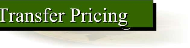 Transfer Pricing Pricing Pricing