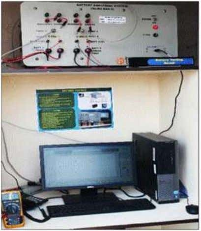 TERI's battery testing facility Battery Analyser Battery Capacity Tester Features: • 4 batteries can be tested